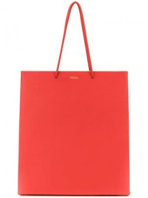 Сумка-шоппер с логотипом Medea. Цвет: красный