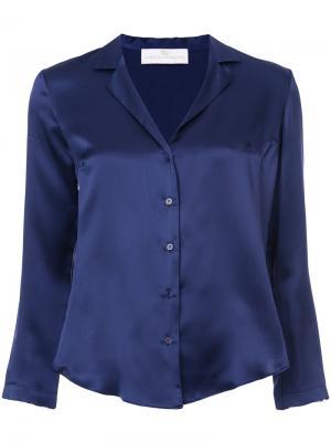 Рубашка с V-образным вырезом Amanda Uprichard. Цвет: синий