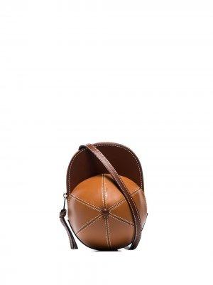 Сумка на плечо Midi Cap JW Anderson. Цвет: коричневый
