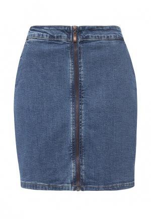 Юбка джинсовая Sela. Цвет: синий