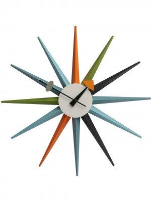 Настенные часы Sunburst Vitra. Цвет: синий