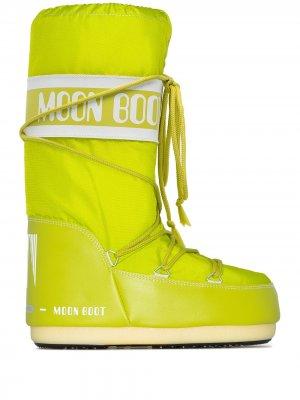Зимние сапоги Icon Moon Boot. Цвет: зеленый