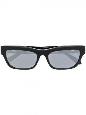Солнцезащитные очки Lola в прямоугольной оправе из коллаборации с Paco Rabanne Linda Farrow. Цвет: черный