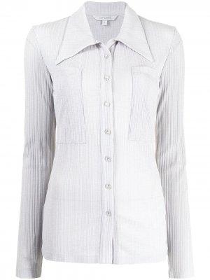 Плиссированная рубашка на пуговицах Low Classic. Цвет: серый