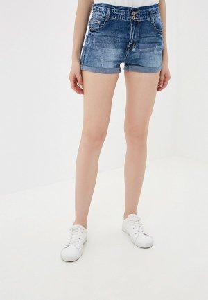 Шорты джинсовые G&G. Цвет: синий