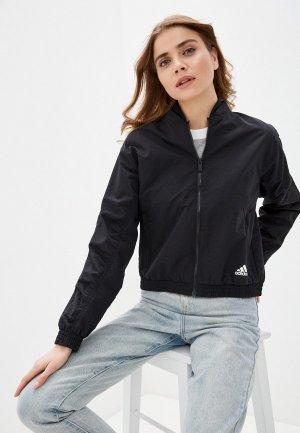Куртка adidas. Цвет: черный