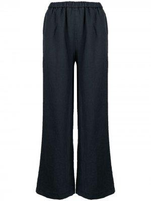 Расклешенные брюки с эластичным поясом Aspesi. Цвет: синий