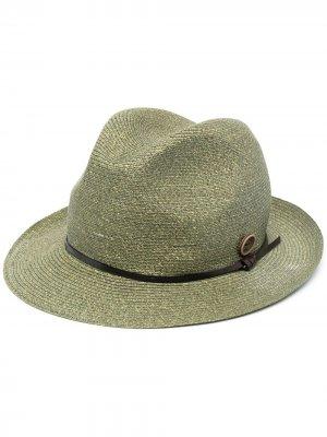 Шляпа в рубчик catarzi. Цвет: зеленый
