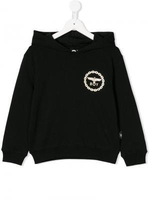 Eagle print hoodie Boy London Kids. Цвет: черный