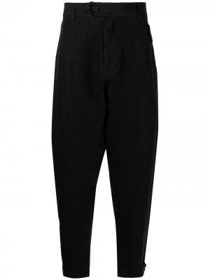 Зауженные брюки Isabel Benenato. Цвет: черный