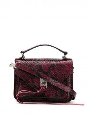 Маленькая сумка-мессенджер Darren Rebecca Minkoff. Цвет: красный