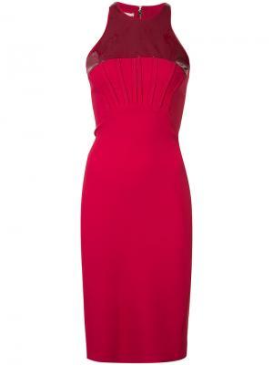 Платье-футляр на молнии сзади Antonio Berardi. Цвет: красный
