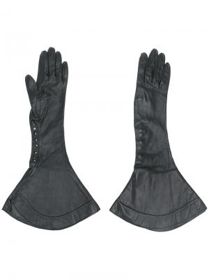 Расклешенные перчатки Alaïa Vintage. Цвет: чёрный