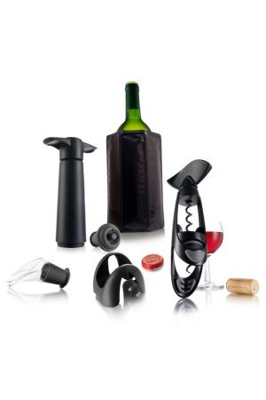Подарочный набор Эксперт Vacu Vin. Цвет: стальной