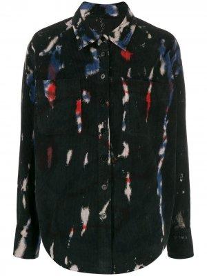 Рубашка на пуговицах с контрастным принтом Raquel Allegra. Цвет: черный