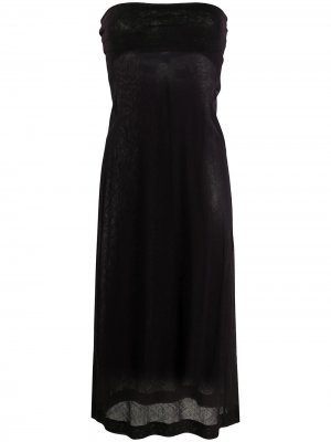 Приталенное платье 2000-х годов без бретелей Dries Van Noten Pre-Owned. Цвет: фиолетовый