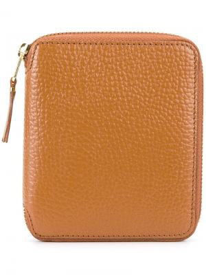 Бумажник с застежкой-молнией Comme Des Garçons Wallet. Цвет: коричневый