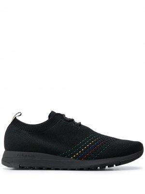 Трикотажные кроссовки с нашивкой-логотипом PS Paul Smith. Цвет: черный