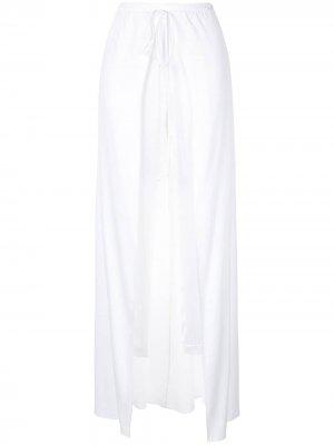 Спортивные брюки с юбкой и кулиской Hellessy. Цвет: белый