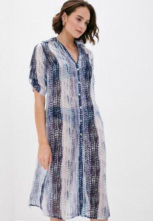 Платье пляжное Phax. Цвет: синий