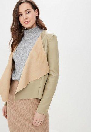 Куртка кожаная Camomilla Italia. Цвет: серый