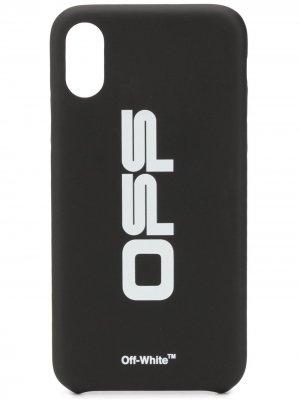 Чехол для iPhone XS с принтом Off-White. Цвет: черный