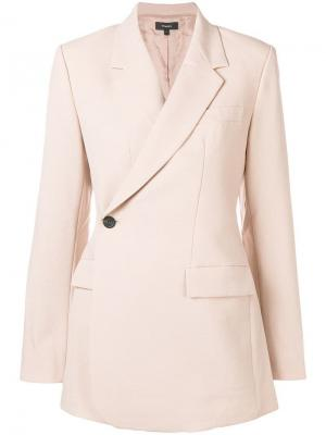 Пиджак на одну пуговицу Theory. Цвет: розовый