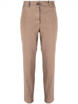 Укороченные брюки чинос Peserico. Цвет: коричневый