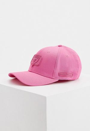 Бейсболка Chiara Ferragni Collection. Цвет: розовый