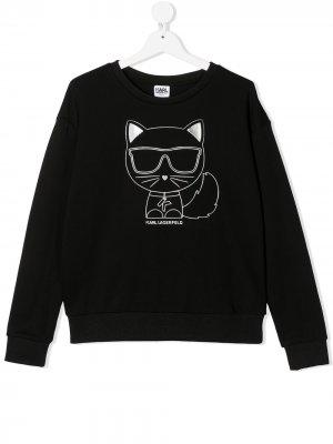 Толстовка Coupette Karl Lagerfeld Kids. Цвет: черный