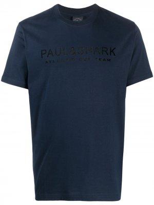 Футболка с логотипом Paul & Shark. Цвет: синий