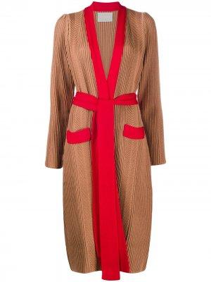 Удлиненный кардиган Nonna La Doublej. Цвет: коричневый