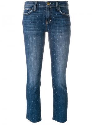 Укороченные джинсы узкого кроя Current/Elliott. Цвет: синий