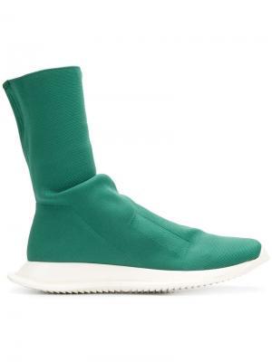 Кроссовки-носки Rick Owens DRKSHDW. Цвет: зеленый