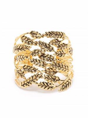 Широкий браслет-бэнгл Wheat Aurelie Bidermann. Цвет: золотистый