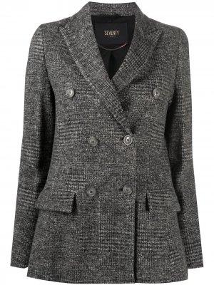 Двубортный пиджак Seventy. Цвет: серый
