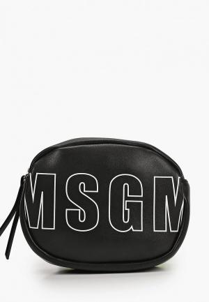 Сумка поясная MSGM. Цвет: черный
