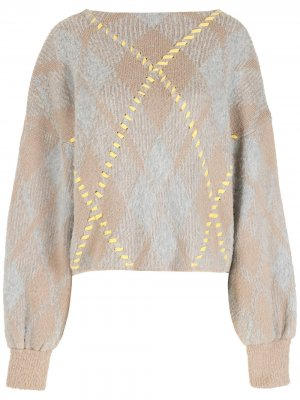 Жаккардовая блузка Nk. Цвет: серый