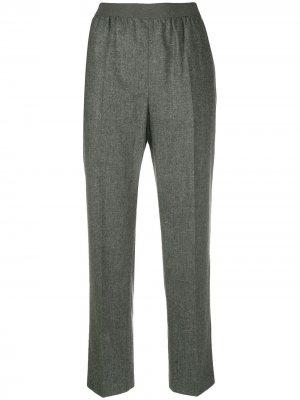Прямые брюки строгого кроя Agnona. Цвет: серый