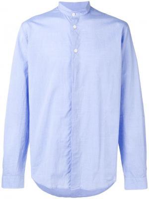 Mandarin collar shirt Folk. Цвет: синий