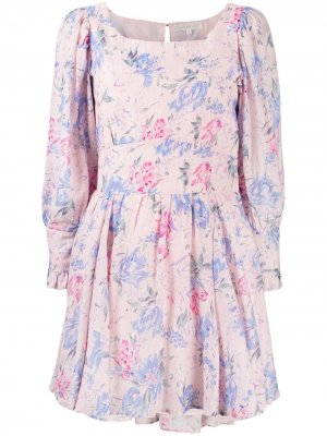 Платье с цветочным принтом LoveShackFancy. Цвет: розовый