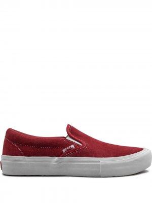 Слипоны Slip-On Pro Vans. Цвет: красный
