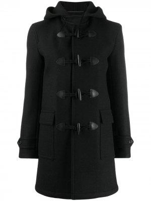 Дафлкот с капюшоном Saint Laurent. Цвет: черный
