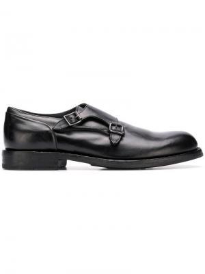 Buckled monk shoes Pantanetti. Цвет: черный