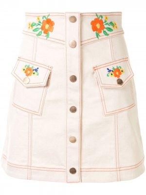 Джинсовая юбка Winona Alice McCall. Цвет: нейтральные цвета