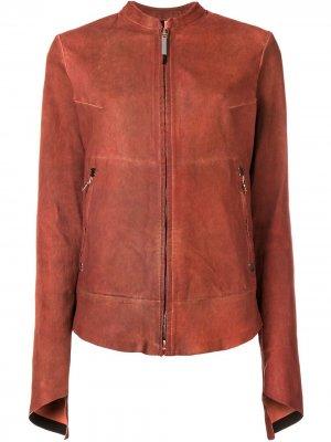 Кожаная куртка Isaac Sellam Experience. Цвет: оранжевый