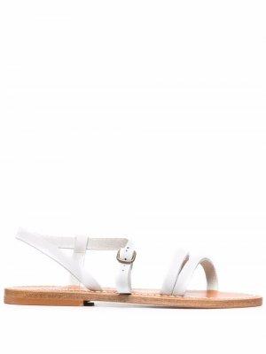 Сандалии с ремешками K. Jacques. Цвет: белый