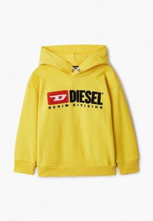 Худи Diesel. Цвет: желтый