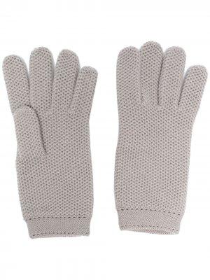 Кашемировые перчатки Loro Piana. Цвет: серый