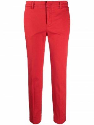 Укороченные брюки кроя слим Pt01. Цвет: красный